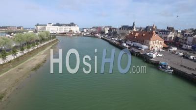 Rivière La Touques, Deauville, Vidéo Drone