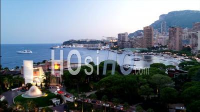 Timelapse Au Port De Monaco, Du Crépuscule à La Nuit
