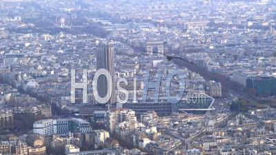 Arc De Triomphe And Porte-Maillot, Seen From Helicopter