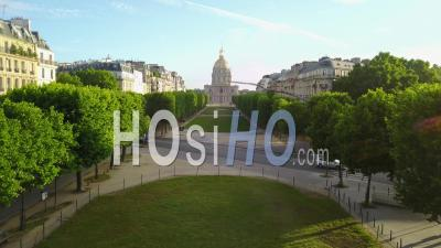 Les Invalides And The Saint-Francois-Xavier Church, Seen By Drone
