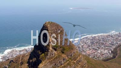 Lion's Head Peak, Cape Town Filmed By Helicopter