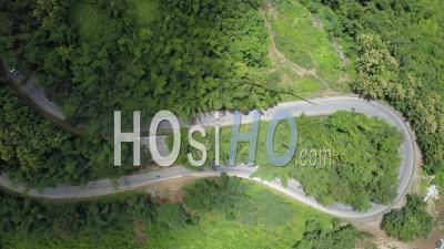 Hairpin Curve Topshot - Video Drone Footage