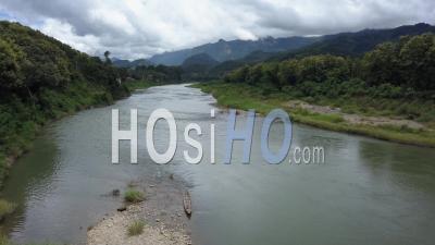 Nam Khan River Nearby Xiang Ngeun - Video Drone Footage