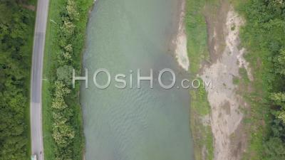 Nam Khan River Nearby Xiang Ngeun - Video Drone Footage