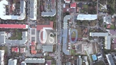 Survol Des Bâtiments Urbains - Vidéo Drone