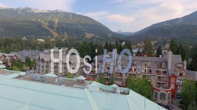 Whistler Village Ski Resort Bc Canada - Video Drone Footage