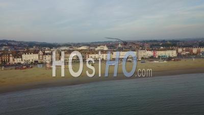 Ville Touristique De Weymouth Dorset Drone Vidéo Angleterre Du Sud - Vidéo Drone