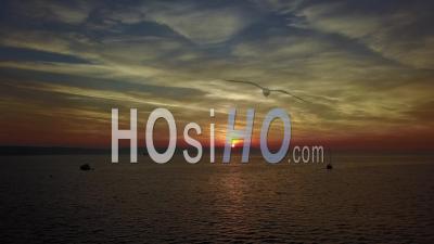 Weymouth Dorset Sunset Drone Vidéo Angleterre Du Sud - Vidéo Drone