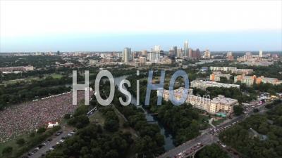 Austin City Limits Music Festival Downtown Austin Texas Usa - Video Drone Footage
