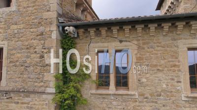 Castle Le Solier In The Cevennes - Video Drone Footage
