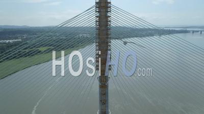 La Construction Du Nouveau Pont De Mersey Gateway De Runcorn à Liverpool En Angleterre - Vidéo Drone