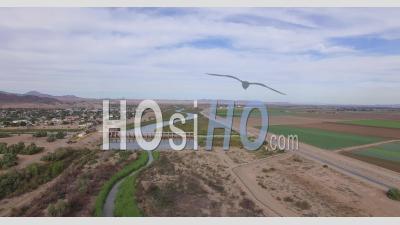 Barrage De Morelos Video Le Comté De Yuma En Arizona, Entre Le Mexique Et Les États-Unis - Vidéo Drone