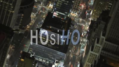Nyc New York Usa Laps De Temps Des 34ème Et 8ème Avenue Utilisant Un Effet Tilt-Shift - Vidéo Drone