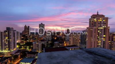 City Traffic Time Lapse Of Panama City Panama