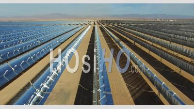 Ouarzazate Solar Power Station, Also Called Noor Power Station Morroco - Drone Point Of View