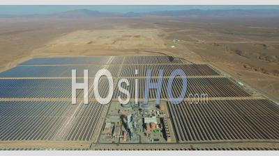 Ouarzazate Solar Power Station, Also Called Noor Power Station Morroco - Video Drone Footage