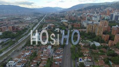 Autoroute, Medellin, Colombie, Drone, Images, Drone, Point, Vue