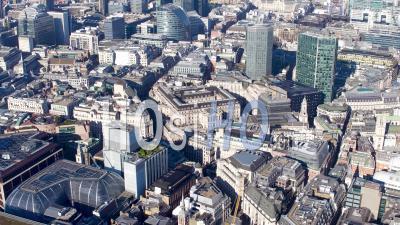 Vue Aérienne De Banque, De, Angleterre, Panoramique, Ouest, à, Blackfriars, Tourné, Par, Hélicoptère, Dans, Hiver, Londres, Londres, Royaume-Uni