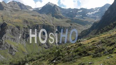 Alpine Landscape At Summer Season, Rosuel Valley, Vanoise, Aerial - Video Drone Footage
