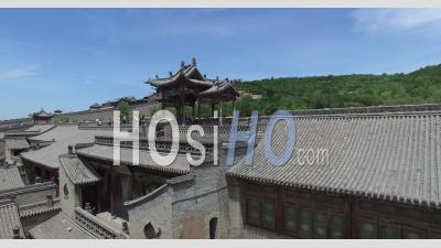 Aerial View Of Qiao's Courtyard In Shanxi - Video Drone Footage