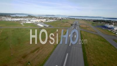 Airplane Takeoff From Victoria Airport