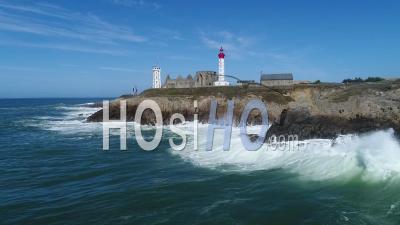 Tempête à La Pointe Saint-Mathieu, Bretagne
