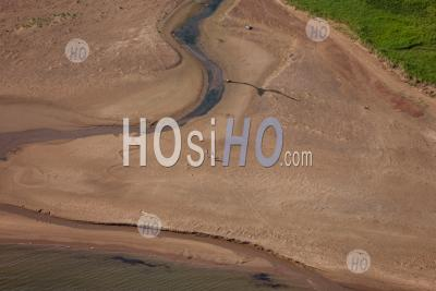 Beach Walking Prince Edward Island Canada - Aerial Photography