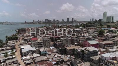 Blockhauss In Abidjan, Video Drone Footage