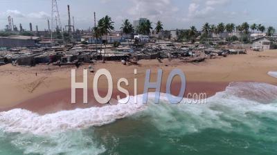 The Rasta Village In Vridi District In Abidjan, Video Drone Footage