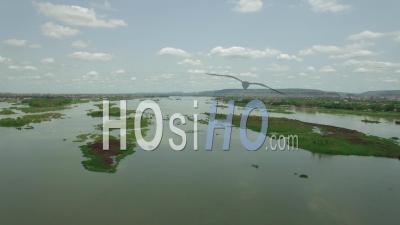 The Niger River In Bamako, Video Drone Footage