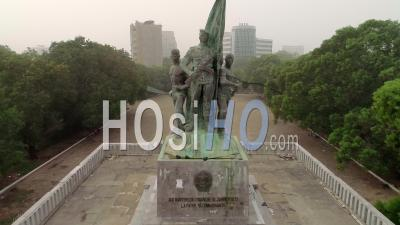 The Place Of The Martyrs In Cotonou, Video Drone Footage