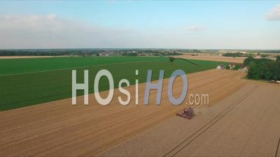 Wheat Fields In France, Drone Point Of View