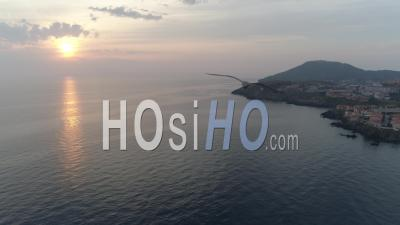 Seaport Of Collioure, Sunrise - Video Drone Footage
