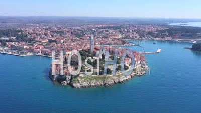 Rovinj Old Town - Video Drone Footage