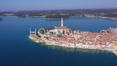 Rovinj Old Town - Drone Point Of View
