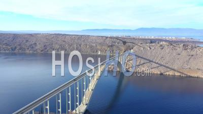 Krk Island Bridge - Drone Point Of View