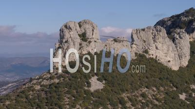 Mountain Sainte-Baume In Winter - Video Drone Footage