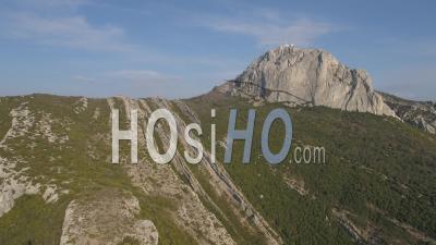 Mountain Sainte-Baume - Video Drone Footage
