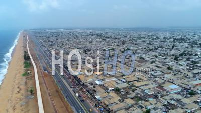 High On Bassam Shore Highway - Video Drone Footage