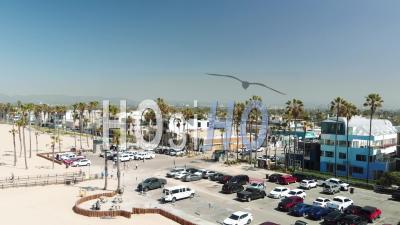 Vue Aérienne De Santa Monica, Californie - Vidéo Drone