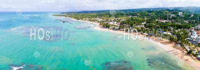 Plage à Samana - Vu Par Drone - Photographie Aérienne