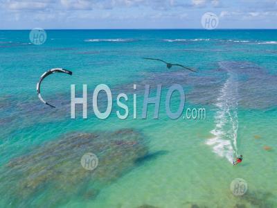 Kite Surf à Samana - Vu Par Drone - Photographie Aérienne