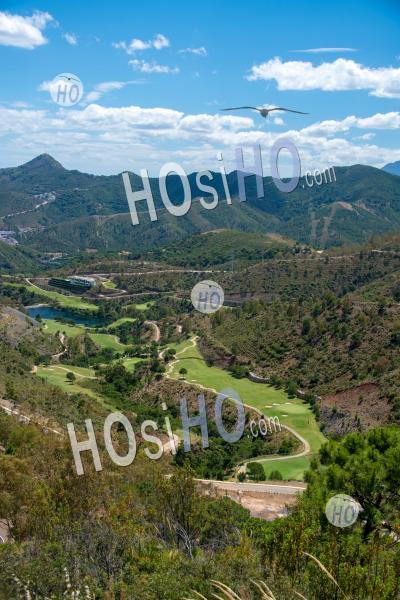 Vue De La Vallée De Ronda - Vu Par Drone - Photographie Aérienne