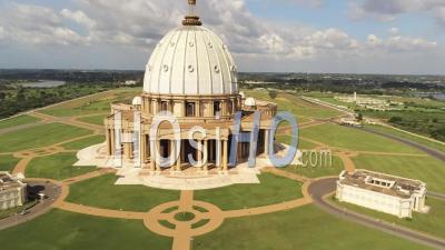 Yamoussoukro Basilica - Video Drone Footage