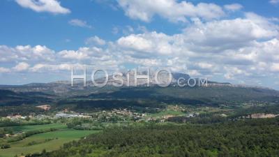 Hyperlapse Of Sainte-Victoire Mountain - Video Drone Footage