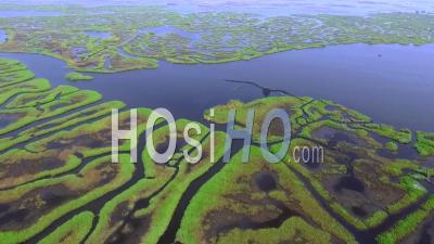 Gorgeous Water Canals On Nokoue Lake - Video Drone Footage