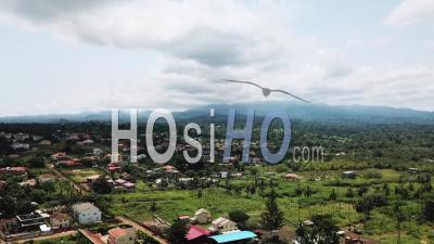 Montagne Au Nord De Sao Tomé - Vu Par Drone