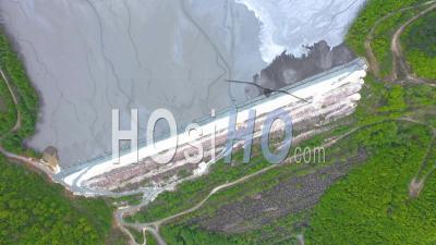 Eaux Usées D'une Mine De Cuivre, Vidéo Drone