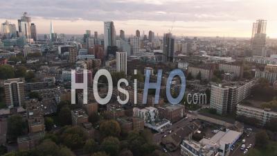 Vue De Londres Depuis Le Nord (shoreditch) - Vidéo Drone