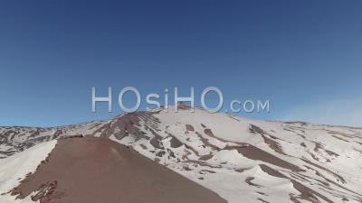 Vue Aérienne De Chariot Du Sommet De L'etna En Sicile, Le Plus Grand Volcan D'europe - Vidéo Drone